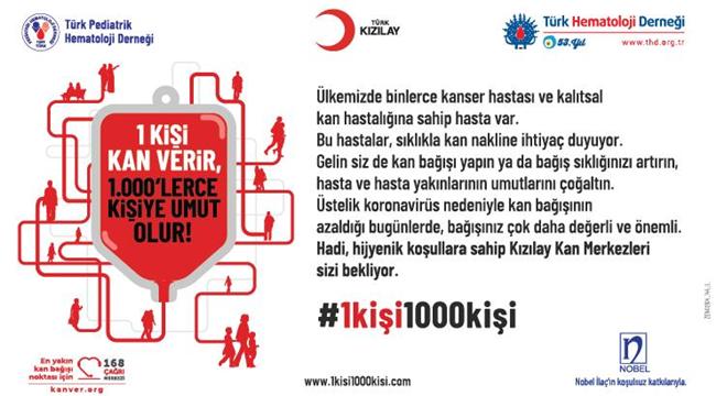 Bağışçılarımızı Türk Kızılay Kan Bağışı Merkezleri'ne Bekliyoruz